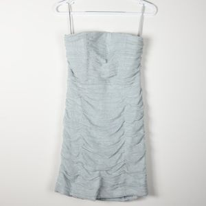 Alice + Olivia Lace Ruched Strapless Mini Dress 4